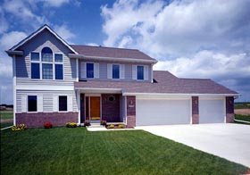 Traditional House Plan 98313 with 4 Beds, 3 Baths, 3 Car Garage Elevation