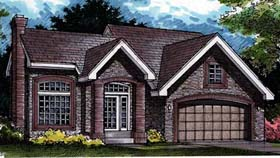 Traditional House Plan 98314 with 3 Beds, 3 Baths, 2 Car Garage Elevation