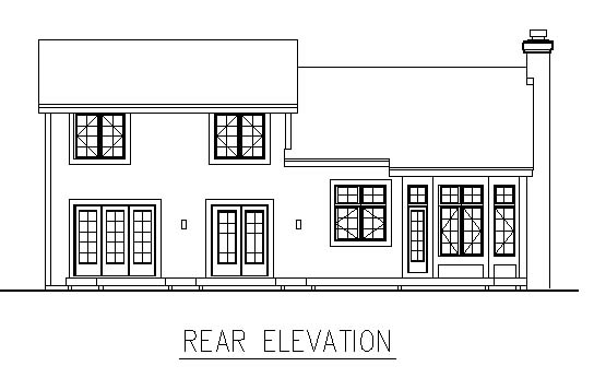 Traditional House Plan 98314 Rear Elevation