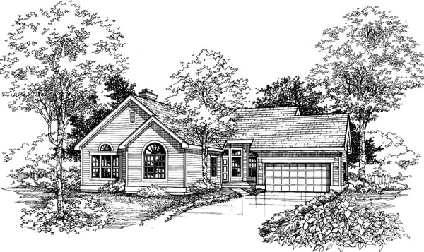 Ranch House Plan 98319 Elevation
