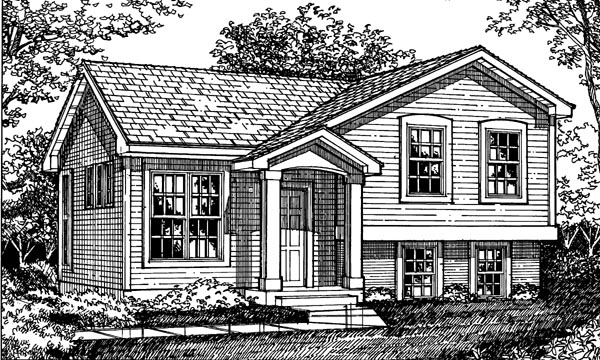 Bungalow , Cottage , Traditional House Plan 98323 with 3 Beds, 1 Baths, 1 Car Garage Elevation