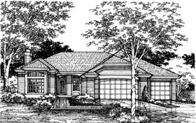Ranch House Plan 98329 Elevation