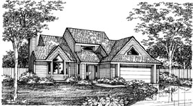 Contemporary House Plan 98336 Elevation