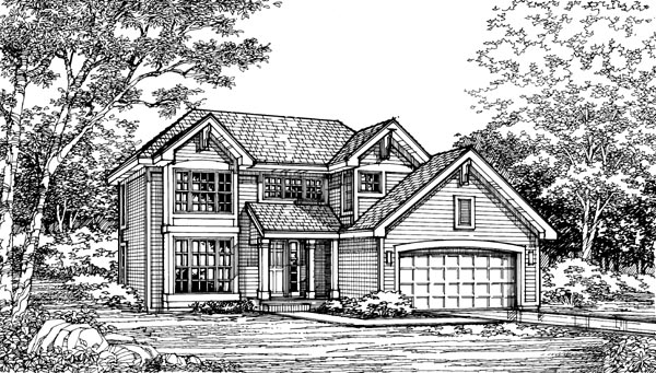 Country Traditional House Plan 98340 Elevation