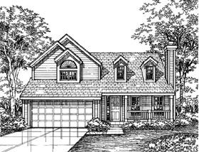 Country House Plan 98342 with 3 Beds, 3 Baths, 2 Car Garage Elevation