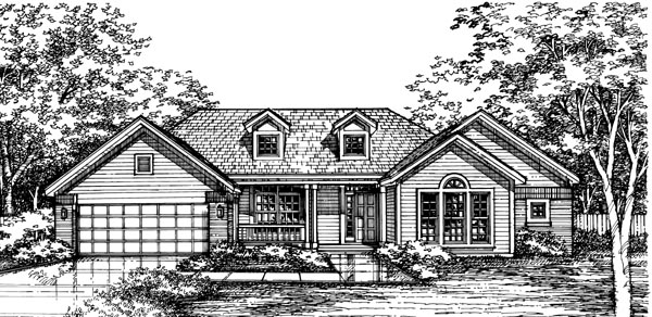 Ranch House Plan 98344 Elevation