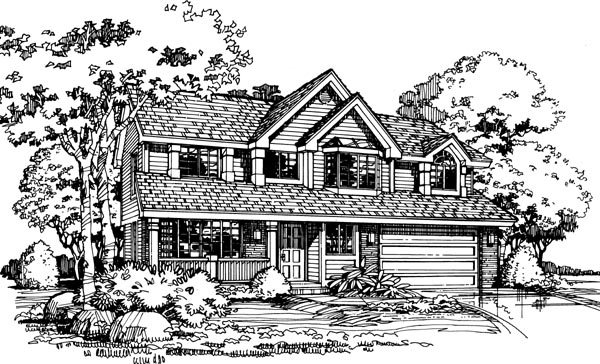 Country House Plan 98352 Elevation
