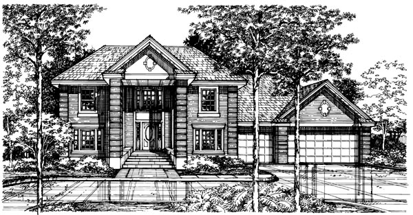 Colonial , Elevation of Plan 98362