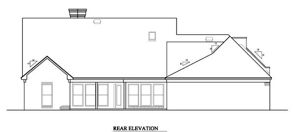 Prairie Style Southwest House Plan 98366 Rear Elevation
