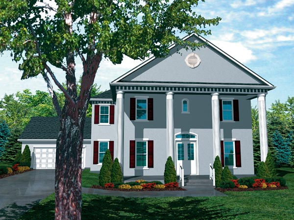 Colonial Southern House Plan 98367 Elevation