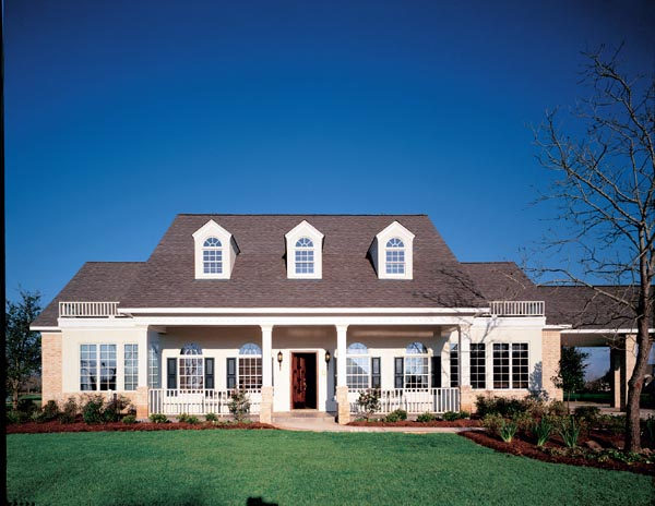 Cape Cod Colonial Country Southern House Plan 98368 Elevation