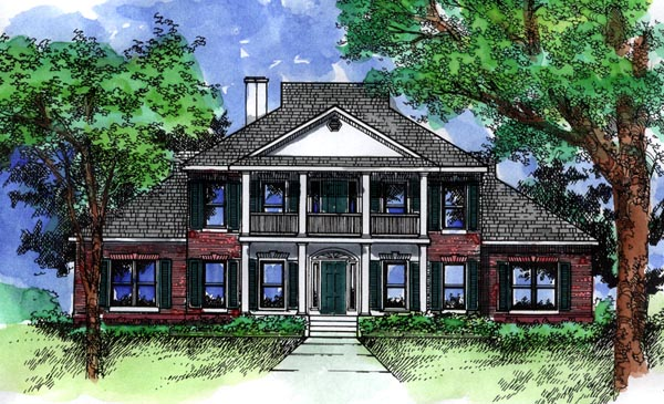 Colonial Southern House Plan 98370 Elevation