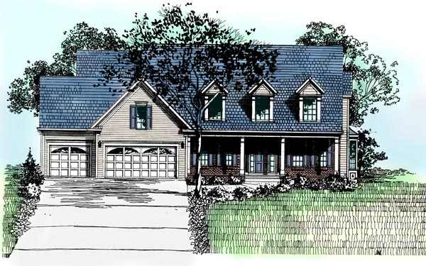 Country Southern House Plan 98371 Elevation