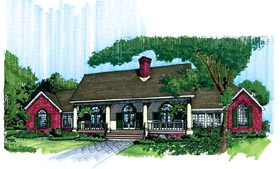 Colonial Country Southern House Plan 98373 Elevation