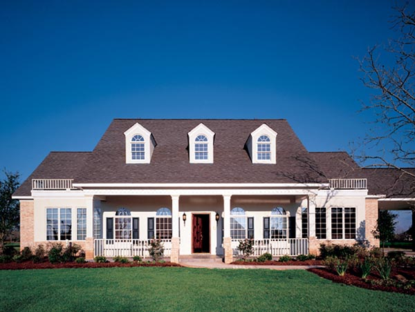 Cape Cod , Colonial , Southern House Plan 98375 with 4 Beds, 3 Baths, 2 Car Garage Elevation