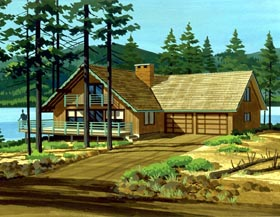 Cabin Ranch House Plan 98381 Elevation