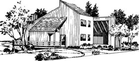 Contemporary Retro House Plan 98385 Elevation