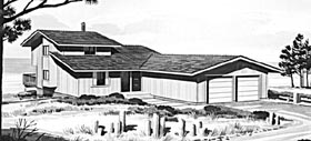Contemporary Ranch House Plan 98390 Elevation
