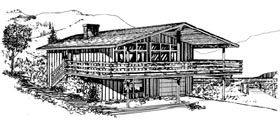 Contemporary House Plan 98392 Elevation