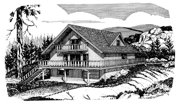 Cabin House Plan 98397 Elevation