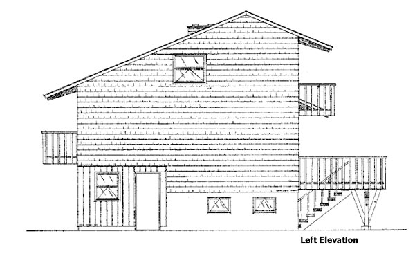 Cabin House Plan 98399 with 2 Beds, 2 Baths, 2 Car Garage Picture 1
