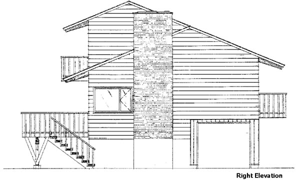 Cabin House Plan 98399 with 2 Beds, 2 Baths, 2 Car Garage Picture 2