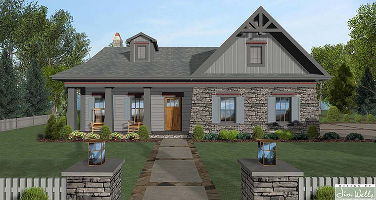 Cottage Craftsman Ranch House Plan 98400 Elevation