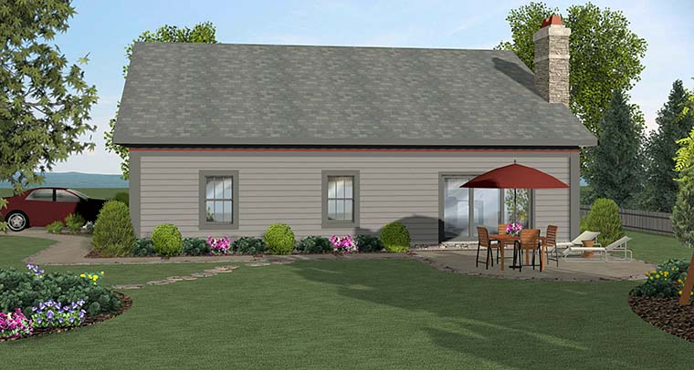 Cottage Craftsman Ranch House Plan 98400 Rear Elevation