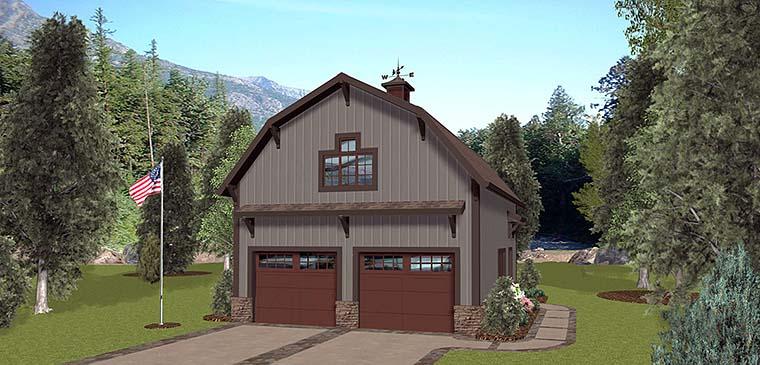 Garage Plan 98403 Elevation