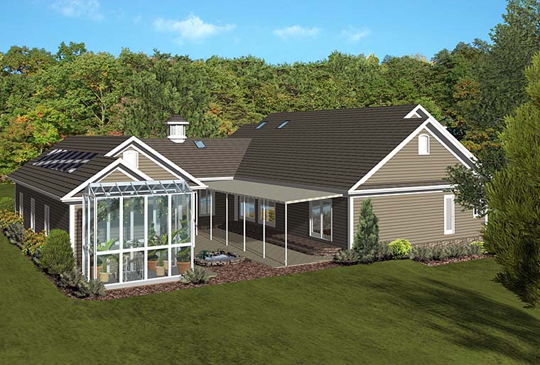 Country Craftsman Southern House Plan 98404 Rear Elevation