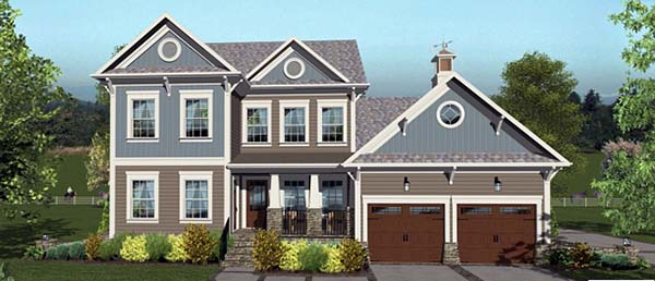 Craftsman House Plan 98405 Elevation