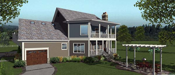Craftsman House Plan 98405 Rear Elevation