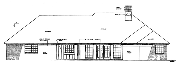 European House Plan 98503 Rear Elevation