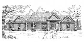 House Plan 98504 | Bungalow Country Style Plan with 2495 Sq Ft, 4 Bedrooms, 3 Bathrooms, 3 Car Garage Elevation