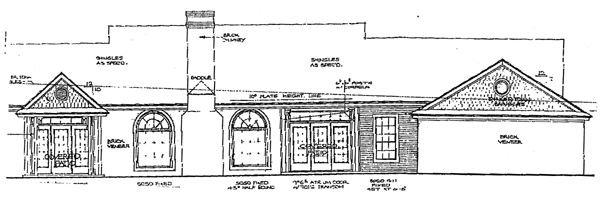 Bungalow Country House Plan 98504 Rear Elevation