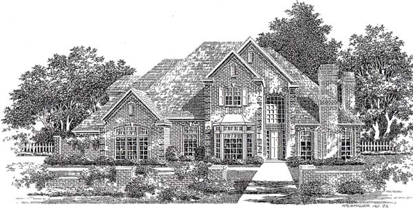 European French Country House Plan 98508 Elevation