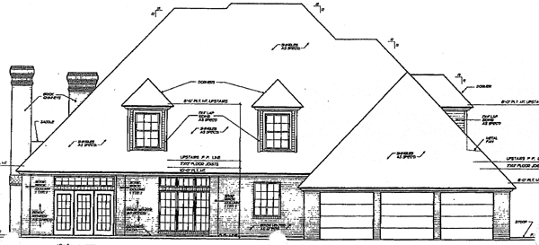 European French Country House Plan 98508 Rear Elevation