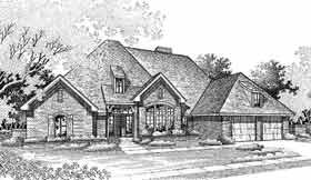 House Plan 98509 | European Style Plan with 2356 Sq Ft, 3 Bedrooms, 3 Bathrooms, 2 Car Garage Elevation