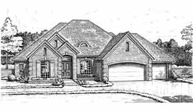 European House Plan 98511 with 4 Beds, 4 Baths, 3 Car Garage Elevation