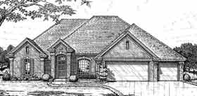 European House Plan 98512 Elevation