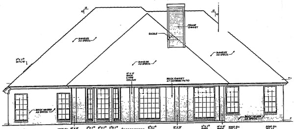 European House Plan 98512 Rear Elevation