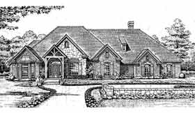 Bungalow European House Plan 98513 Elevation