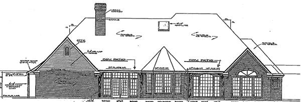 Bungalow European House Plan 98513 Rear Elevation