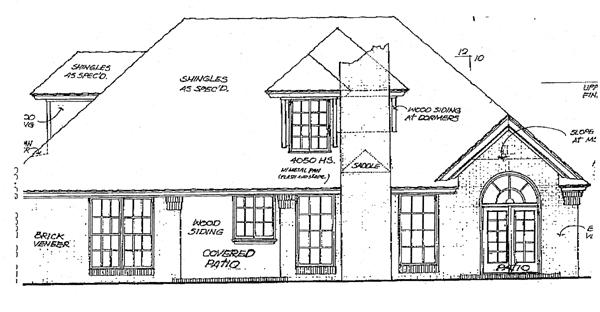 European House Plan 98517 Rear Elevation