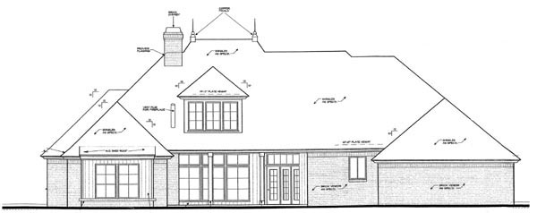 Country European House Plan 98518 Rear Elevation