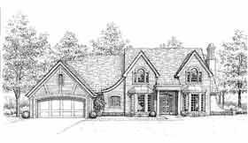 Tudor House Plan 98519 Elevation