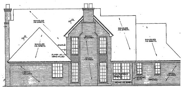 Tudor House Plan 98519 Rear Elevation