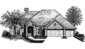 European House Plan 98521 Elevation