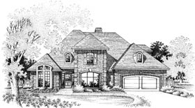 European House Plan 98525 Elevation