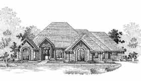European House Plan 98528 Elevation